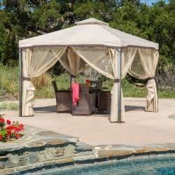 Patio Canopy Gazebo Tent Gazebo Metal Frame Canopy Mosquito Netting Outdoor Garden Patio Wedding Pergola Ebay