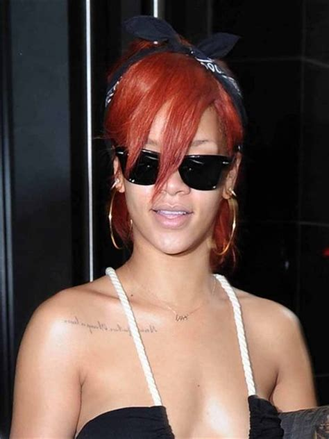 rihanna sternum tattoo rihanna s chest quot always a lesson never a failure quot