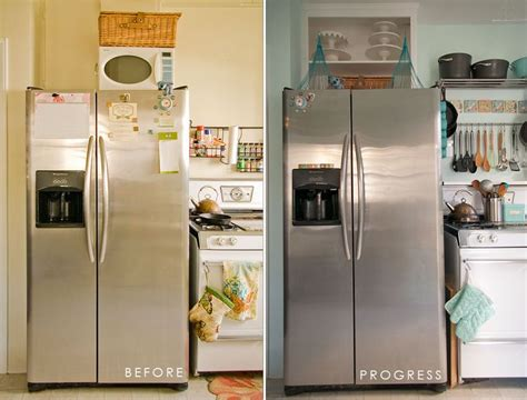 no cabinet over the fridge kitchen ideas pinterest