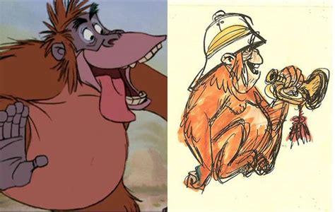 sketsa awal karakter kartun disney