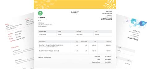 online invoice software cloud invoicing system zoho