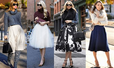 how to wear your midi skirt this winter fashion style mag
