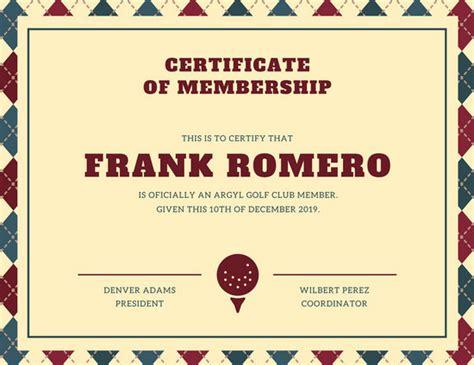 canva membership membership certificate templates canva