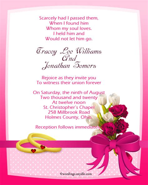 Wedding Invitation Sles by Marriage Invitation Wordings India Wedding
