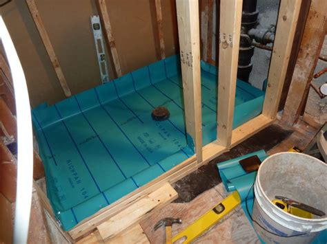 How To Build A Shower Floor Pan by How To Build A Shower Pan On A Wood Floor Houses Flooring