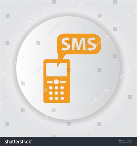 sms on mobile sms on mobile phonevector stock vector 123595909