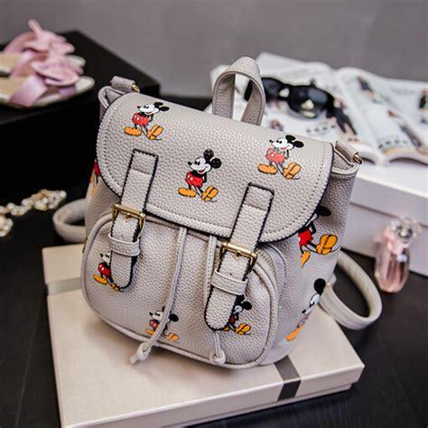 Fashion Mickey Bag fashion mickey mouse print grey pu backpack backpacks bags