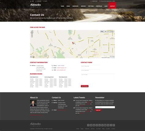 themeforest contact automotive car dealership business wordpress theme by