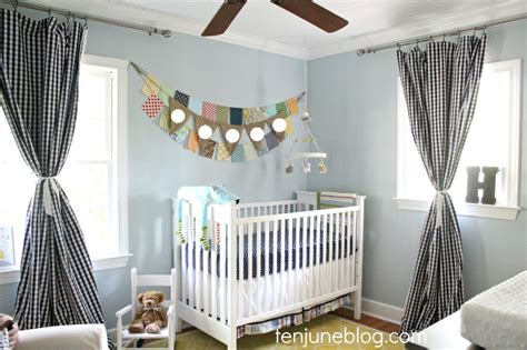 Nursery Curtains Boy Crisp And Clean Boy S Eclectic Blue And Yellow Nursery Project Nursery