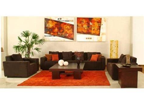 alfombras naranjas dise 241 os de salas color chocolate