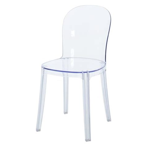 clear ghost chair clear ghost style plastic dining chair from fusion