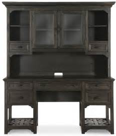 Bellamy Deep Weathered Pine Desk With Hutch From Magnussen Pine Desk With Hutch