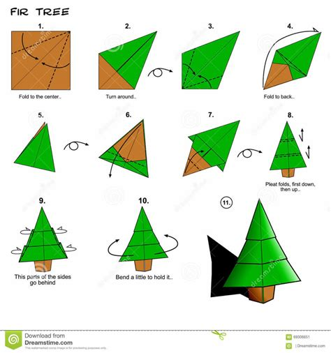 How To Make Paper Tree - origami step by step how to make origami