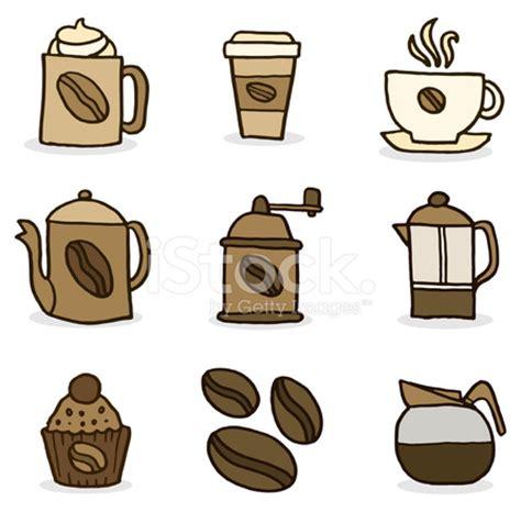 coffee doodle icon set stock photos freeimages.com