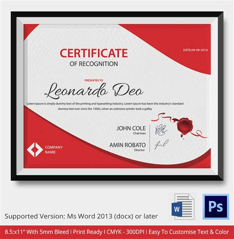 design a certificate in word word certificate template 31 free download sles