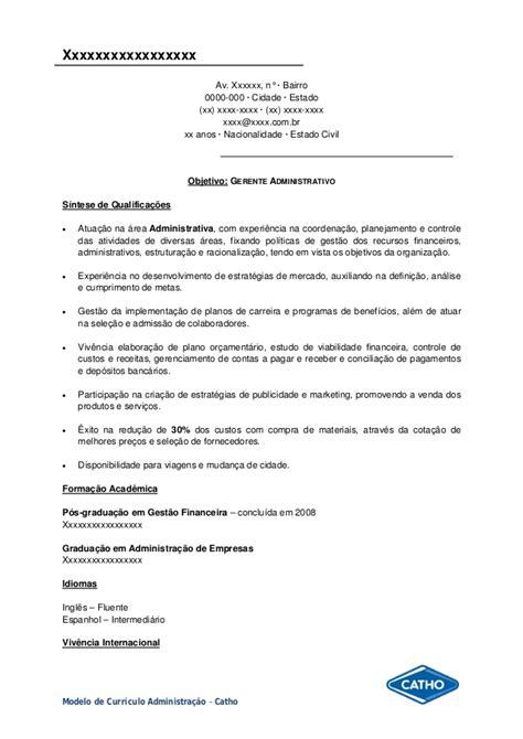Modelo De Curriculum Para Administrativa Modelo Curriculo Administra 231 227 O