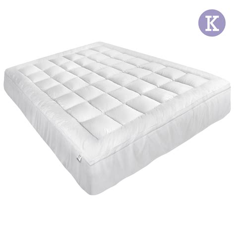 king size bed pillow top cover prime pillow top mattress topper memory resistant