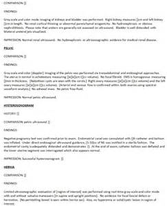 Ultrasound Report Template abdominal ultrasound report submited images