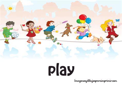 Imagenes De Jugar En Ingles | imagenes de verbos en ingles para imprimir