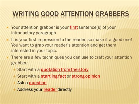 Attention Grabbers For Persuasive Essays by Opinion Essay Attention Grabbers