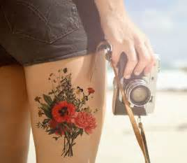 awesome tat 18 super thigh tattoos for women