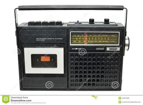 vintage cassette retro radio cassette player stock photo image 43407838