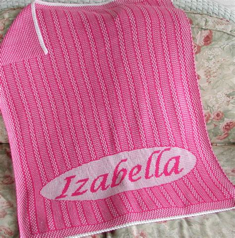personalised knitted personalized knit baby blanket