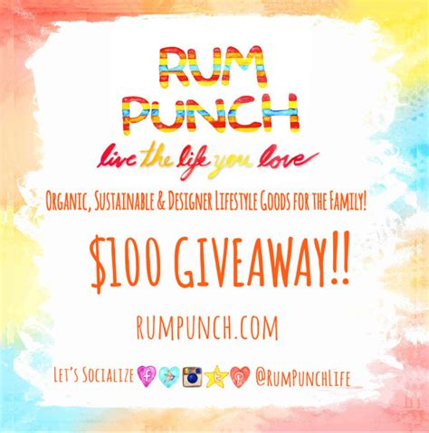 Clothes Giveaway Contest - 100 rum punch clothing gift card sweepstakes funtastic life
