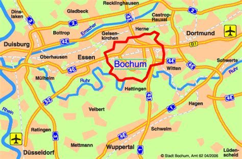 map of bochum germany bochum map