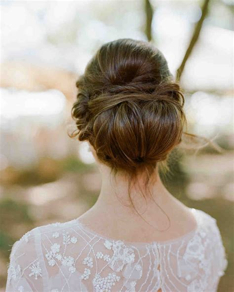 37 pretty wedding hairstyles for brides with hair martha stewart weddings