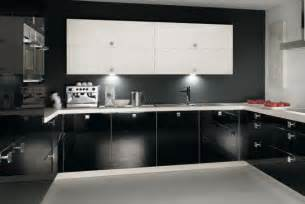 Black Kitchen Cabinets Design Ideas by Lavish Black White Kitchen Design Furniture Arcade