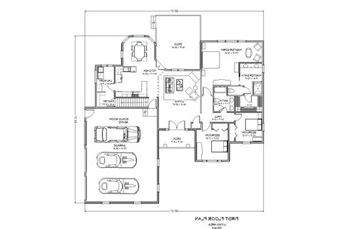double master one story home plans with two master suites