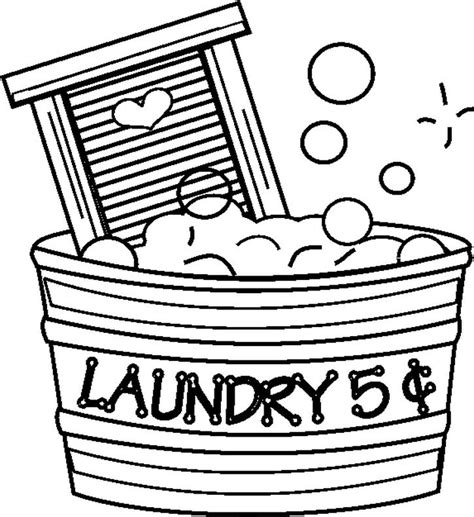 laundry5centsbw free printable laundry coloring pages