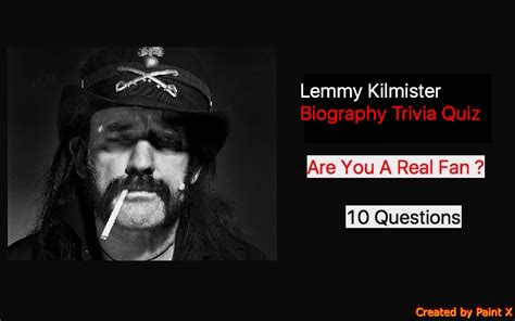 biography quiz lemmy kilmister biography trivia quiz quiz for fans
