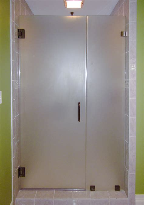 Opaque Shower Doors Frosted Or Clear Glass For Shower Images