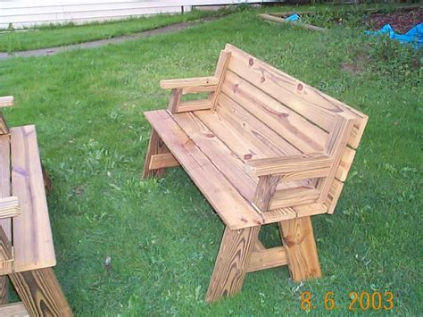 bench to picnic table plans folding picnic table bench plans free quick woodworking