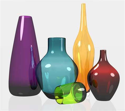 Color Glass Vases vases design ideas colored glass vases collectible