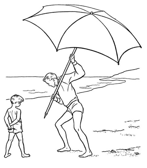 beach umbrella coloring pages az coloring pages