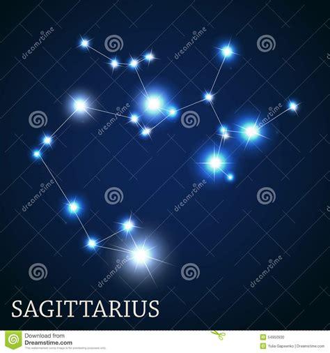 beautiful sagittarius zodiac sign sagittarius on night sky background cartoon