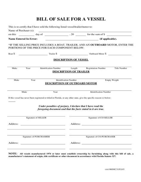 boat bill of sale nebraska boat bill of sale form sle free download
