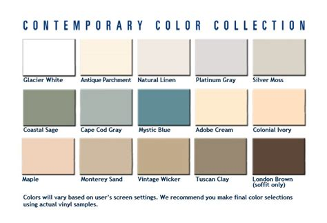 contemporary colors contemporary color collection
