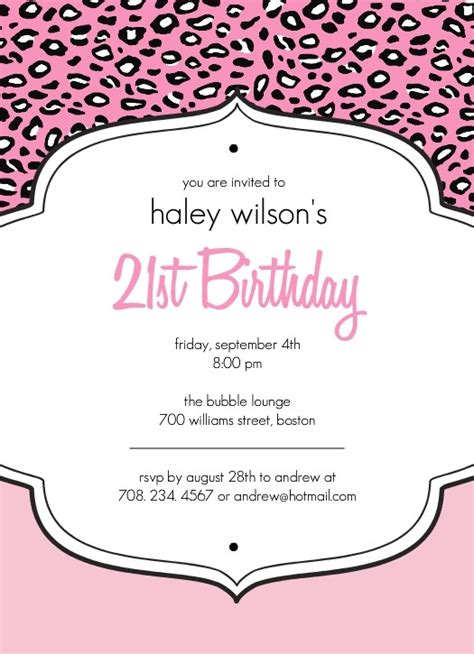 birthday letter template free invitation letter for 21st birthday letters free