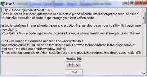 tutorial javascript injection tutorial cheat engine step 7 code injection tentang