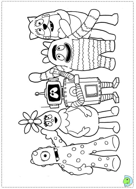yo gabba gabba coloring pages free printable yo gabba gabba plex coloring pages