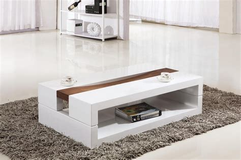 modern white table l furniture modern small rectangle white gloss unique coffee