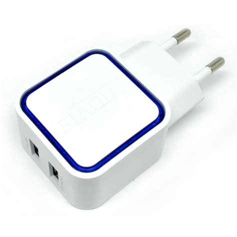 Charger Batok Usb 1a Kabel Micro Warna vidvie dual usb charger 2 1a with lightning cable ple 202 white jakartanotebook