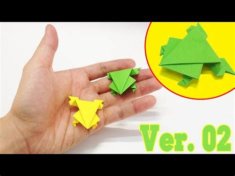 How Do You Make A Frog Out Of Paper - easy origami how to make a jumping frog ver 2