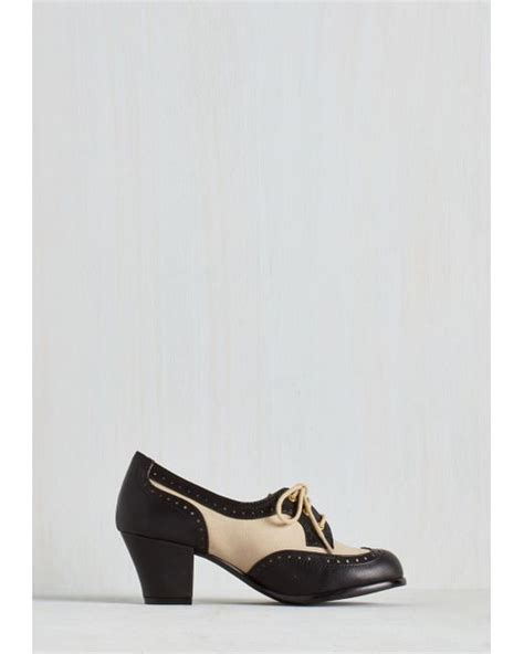 bait shoes bait footwear oxford comment heel in noir in black lyst