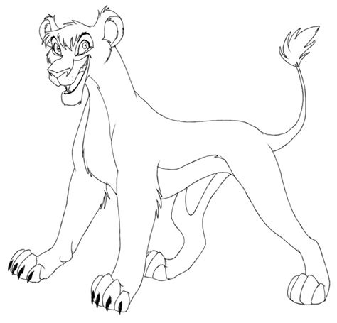 lion king 2 vitani coloring pages free coloring pages of kopa and vitani