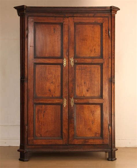 walnut wardrobe large armoire 19th century for